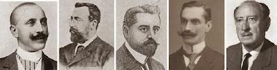 Los ajedrecistas Rinck, Tolosa, Marín, Puig i Puig y Mandil