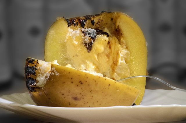 Manzana rellena de crema de queso; Cream cheese apple