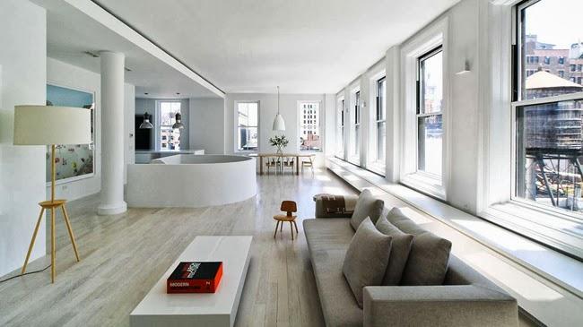 Apartamento minimalista en manhattan for Apartamentos minimalistas