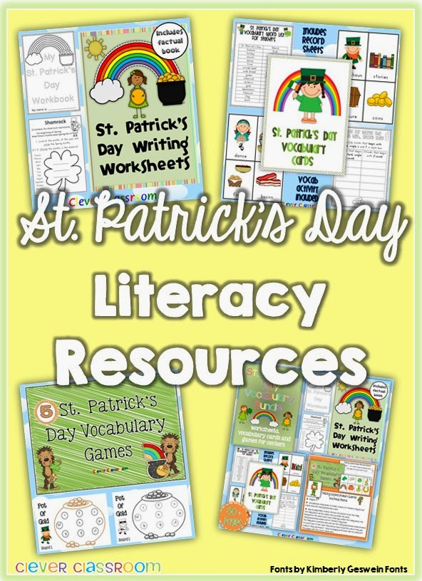 St. Patrick's Day classroom resources and ideas resource bundle