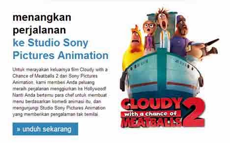 film animasi 3D, Cloudy with a Chance of Meatballs 2 yang dibuat oleh Sony Pictures Animation.