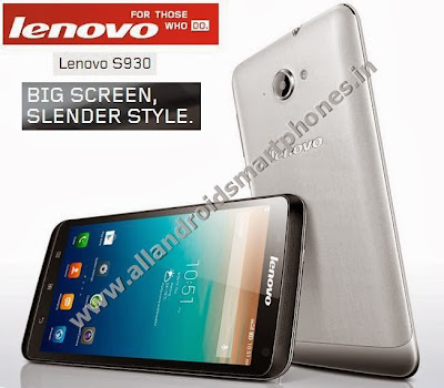 Lenovo S930 Dual Sim 6.0 Inch Android Phablet Smartphone Front Back Images Photos Review