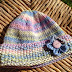 Knitted new born baby hat