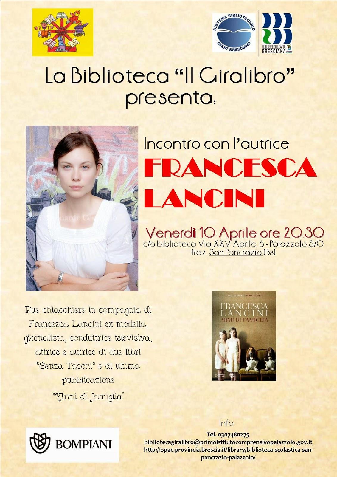 Incontro con l'autrice : Francesca Lancini
