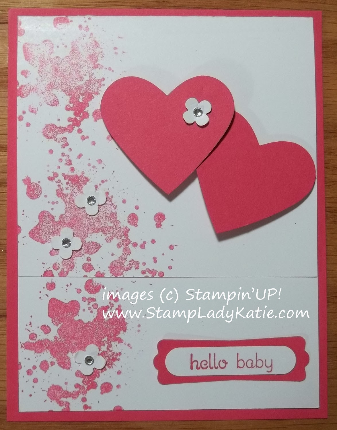 Punch Art Valentine card made with stamps from Stampin'UP!'s Teeny Tiny Wishes and Gorgeous Grunge stamp sets.