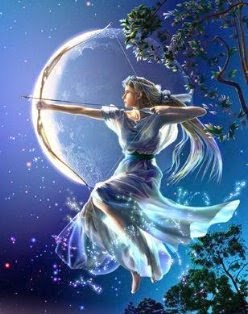 Artemisa, Diosa de la caza y de la luna, amante de la naturaleza.