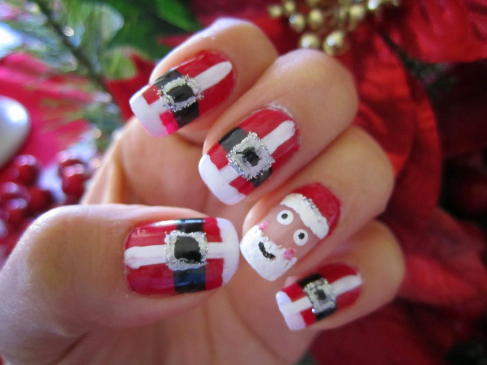 maquillaje de uñas para navidad