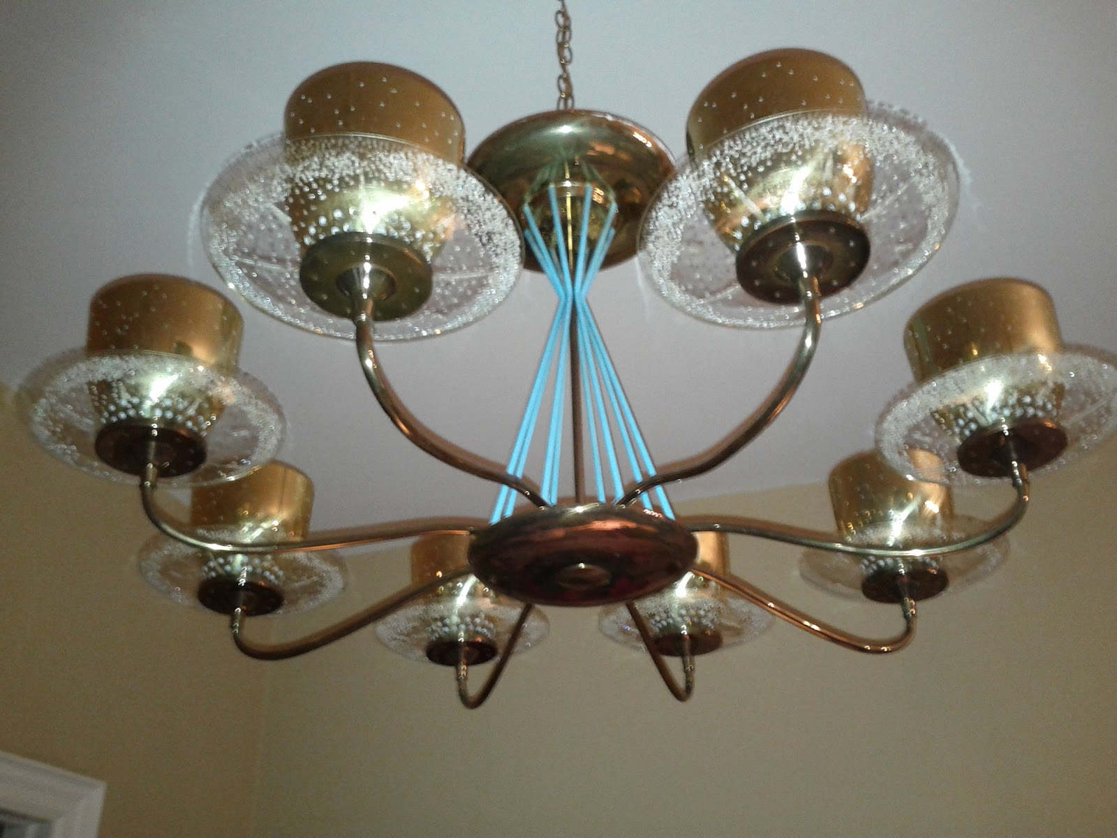 Era Antiques Rare Monumental Early 1950´s Atomic Age Brass