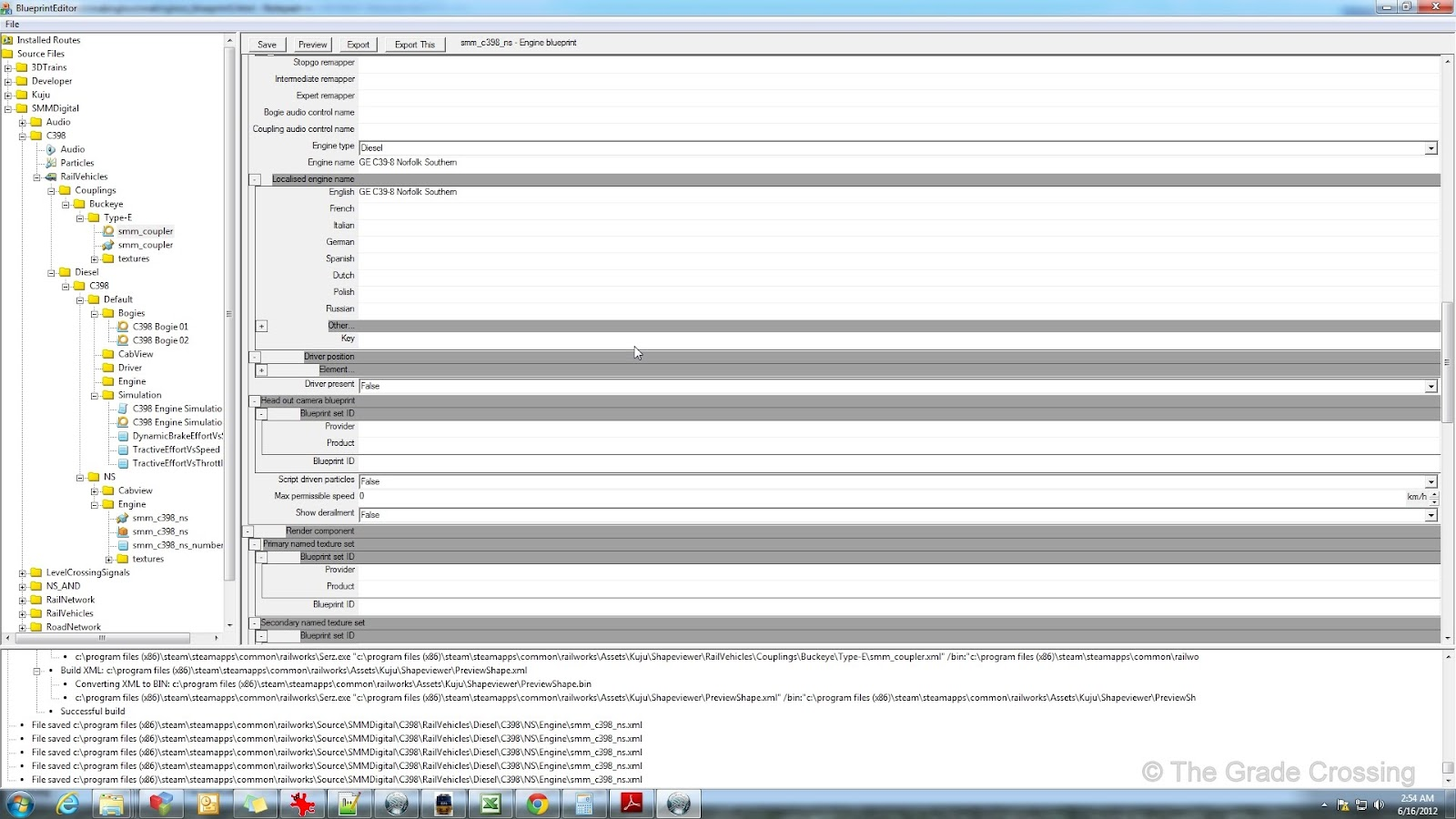 The grade crossing 3dc to railworks locomotive blueprinting part 2 monday october 29 2012 malvernweather Choice Image