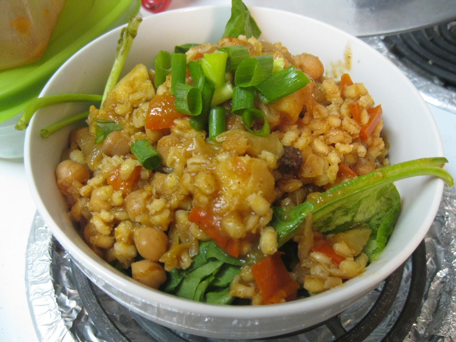 Moroccan Barley Stew after barley is cooked
