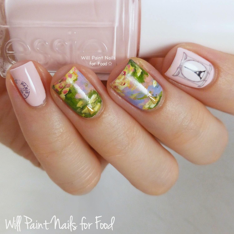 Impressionist Paris nail art