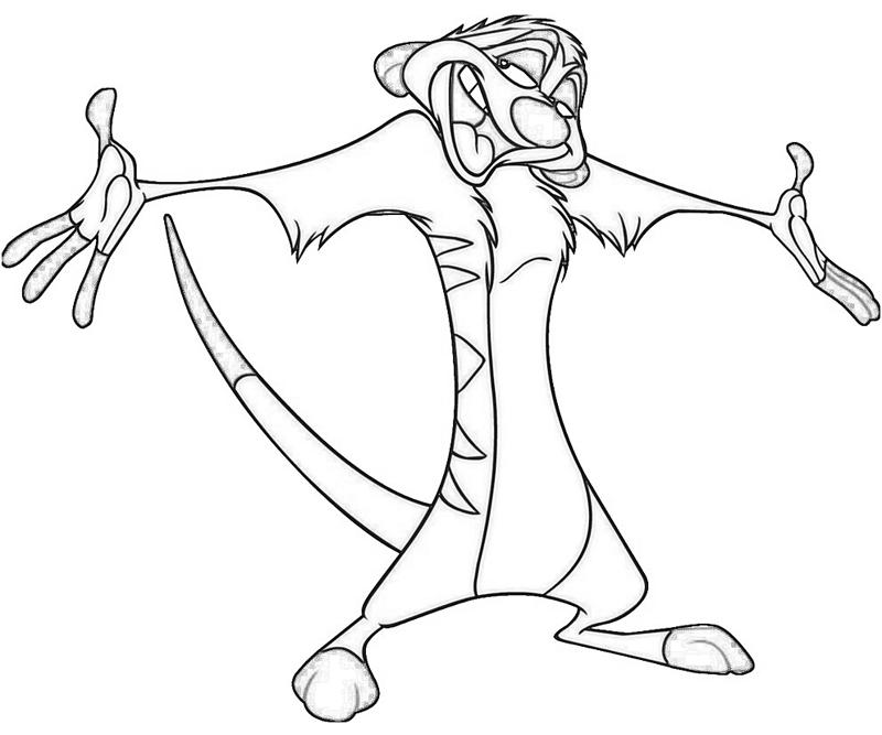 lion king timon coloring pages - photo#10
