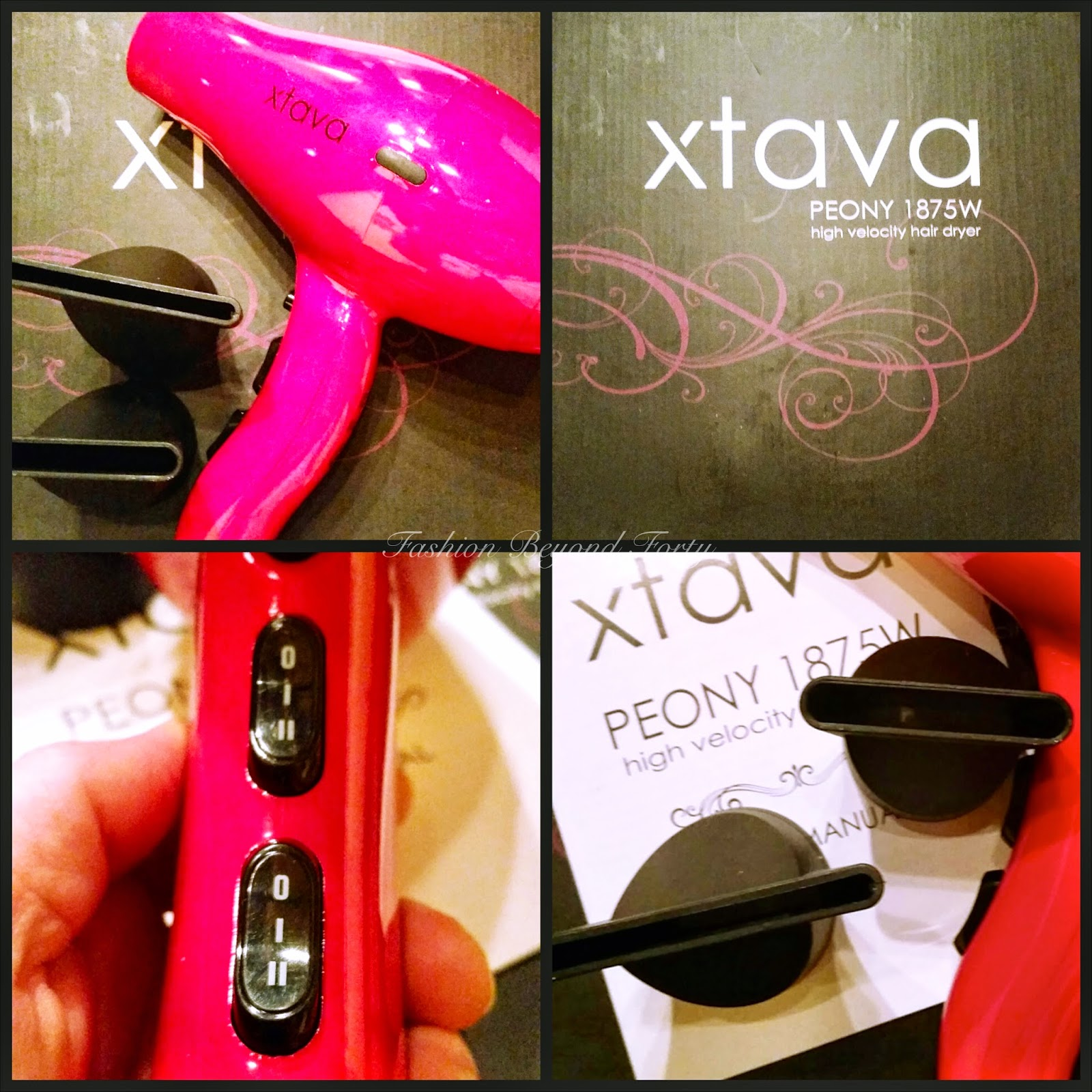 Review Peony 1875W Hair Dryer with Turbo JOHNSON Motor, Professional Performance and Compact Design (Pink) by Xtava TM