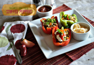 Southwest Stuffed Peppers #Recipe - My #KraftFreshTake