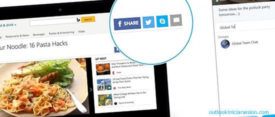 Skype estrena su botón compartir