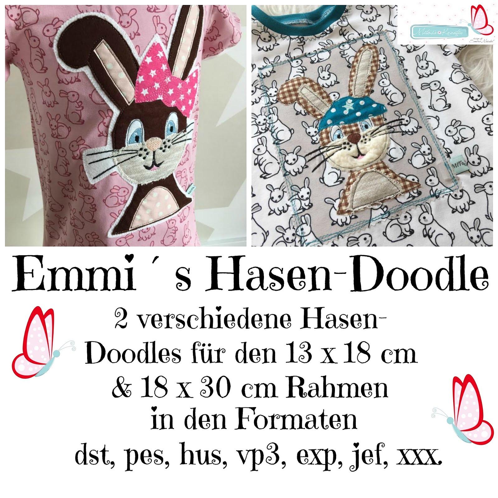 Emmi Hasen Stickdatei 13x18 & 18x30cm FREEbie