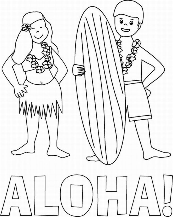 hawaii coloring pages - photo#9