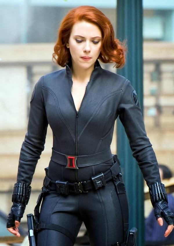 johansson widow Scarlett iron man black
