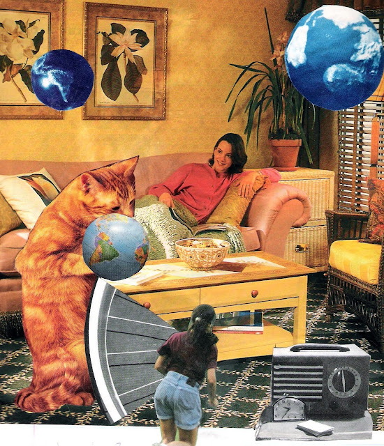From the couch - Collage by Douglas Brent Smith