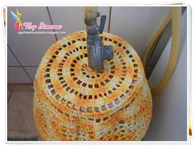 Capa para botijão de gás crochê