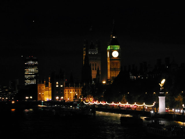 Westminster Bridge which connects Palace of Westminster  with County Hall and The London Eye