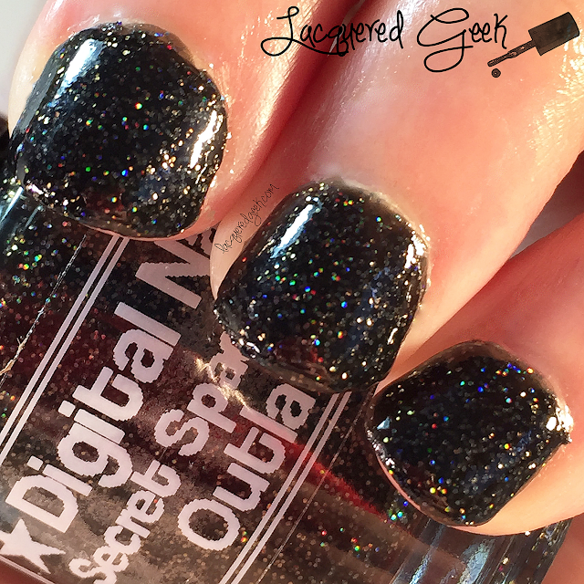 Digital Nails Secret Space Outlaw nail polish swatch and review by Lacquered Geek