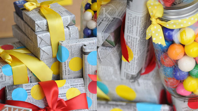 Earth Day newspaper wrapping party