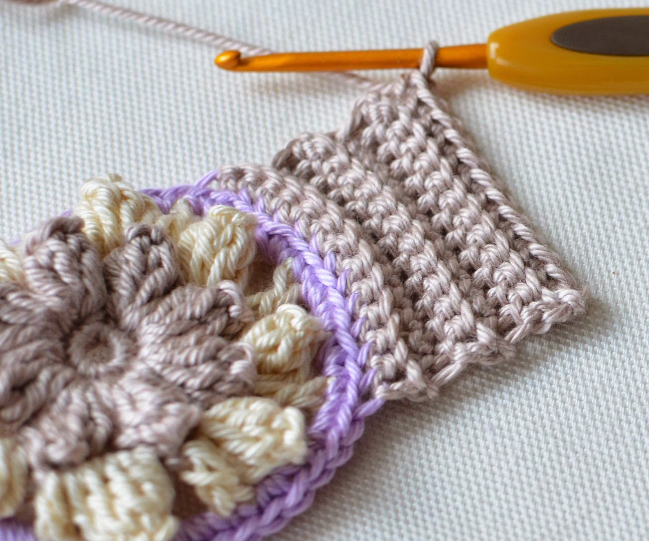 crocheted cuff