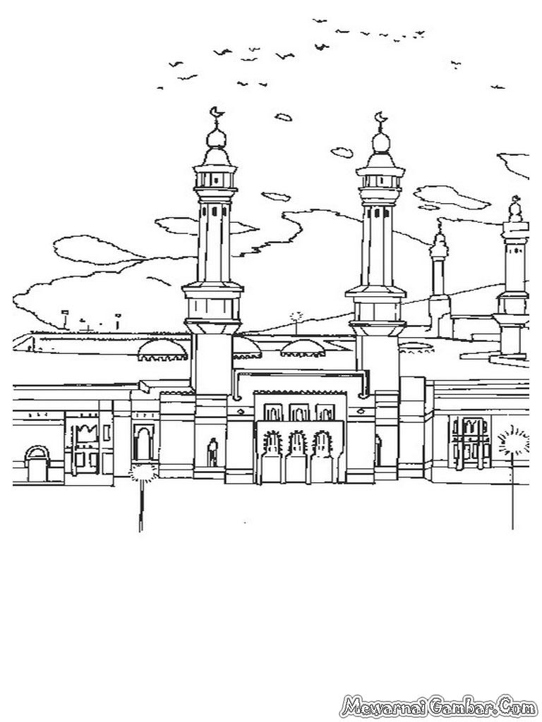Mewarnai Gambar Masjid Terbaru
