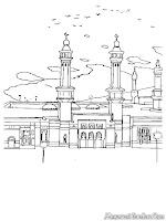 Mewarnai Gambar Masjid Di Mekah