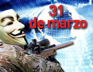 Anonymous desarrollara 'apagón' cibernetico para el próximo 31 de marzo.