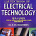 تحميل كتاب تكنولوجيا الكهرباء للمؤلف الهندي ثيراجا مقسم  الى أجزاء