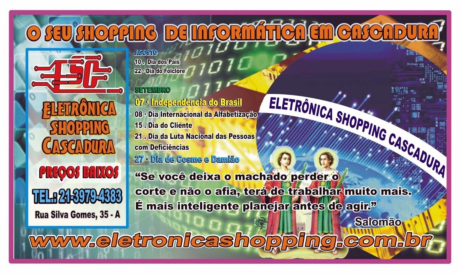 e26d36fd173 Jornal Ícone - Eletrônica Shopping Cascadura