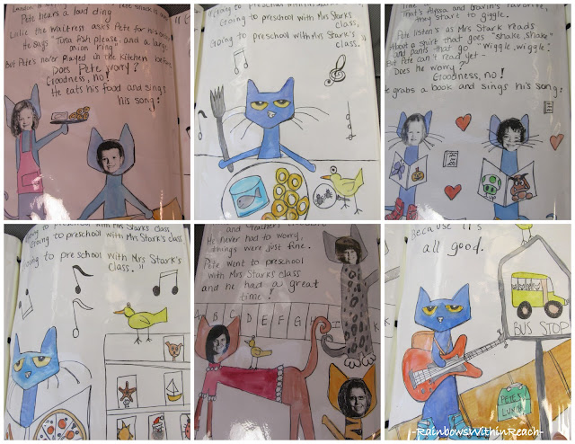 photo of: Preschool Class Project in response to Pete the Cat picture book
