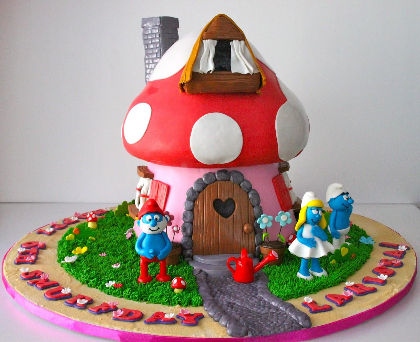 Celebrate With Cake Smurf House Cake