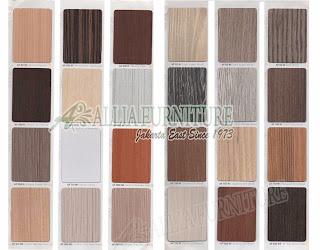 Contoh HPL motif tekstur kayu gradasi