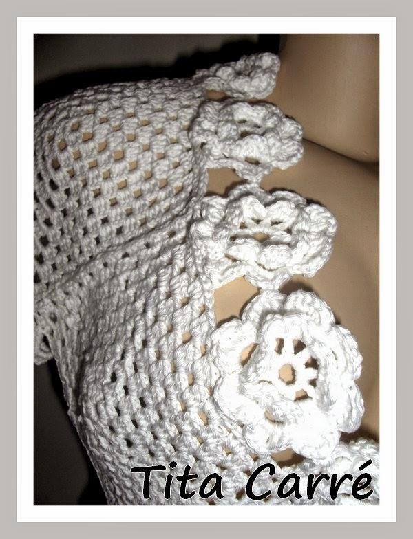 Bolero White Flower - Disponível - Peça Única