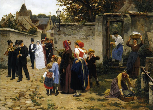 wedding,wedding dress,genre painting