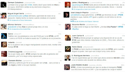 Tuiteros anónimos opinan sobre los cambios en TVE