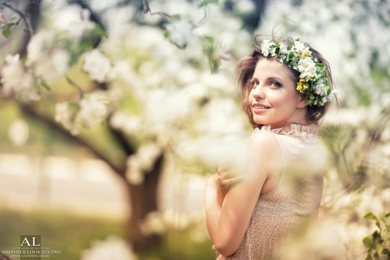 Идеи фото девушек весной