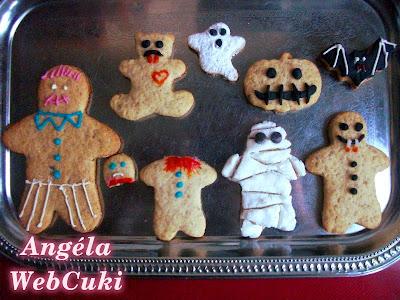 Halloweeni dejó kekszek, fura figurák.