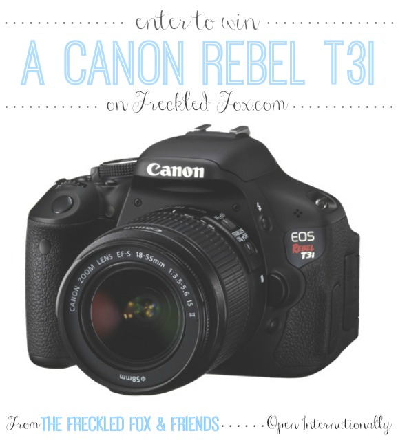 Canon Rebel T3i giveaway