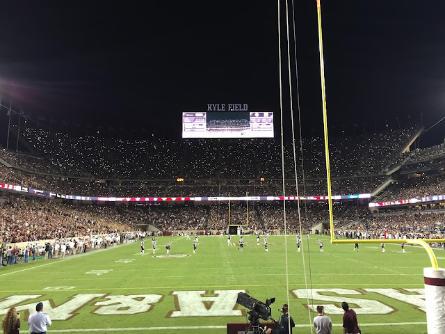 While I'm Waiting...Kyle Field at night