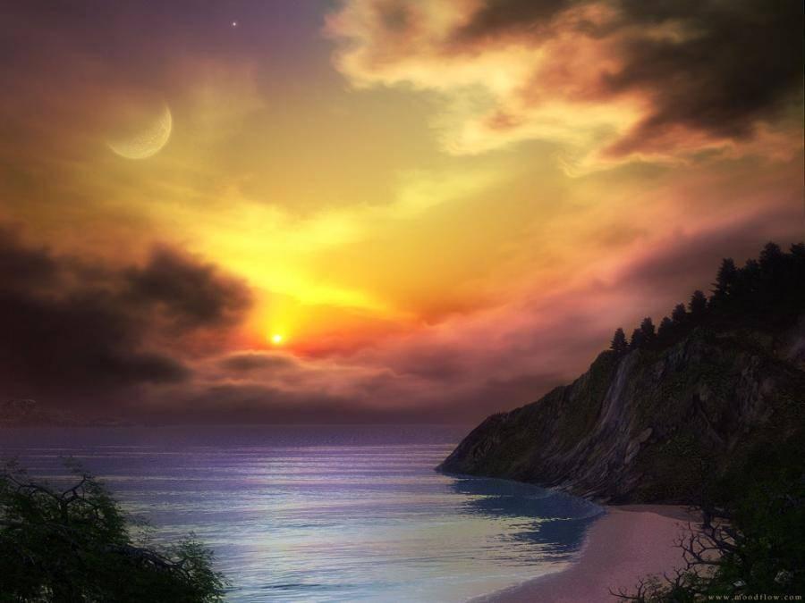 Nice and beautiful wallpaper collections beautiful moon for Sfondi desktop tramonti mare
