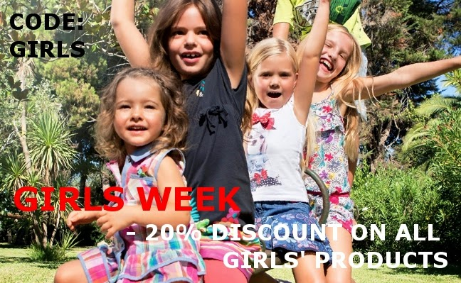 Girls week - 20 % off on all girls products