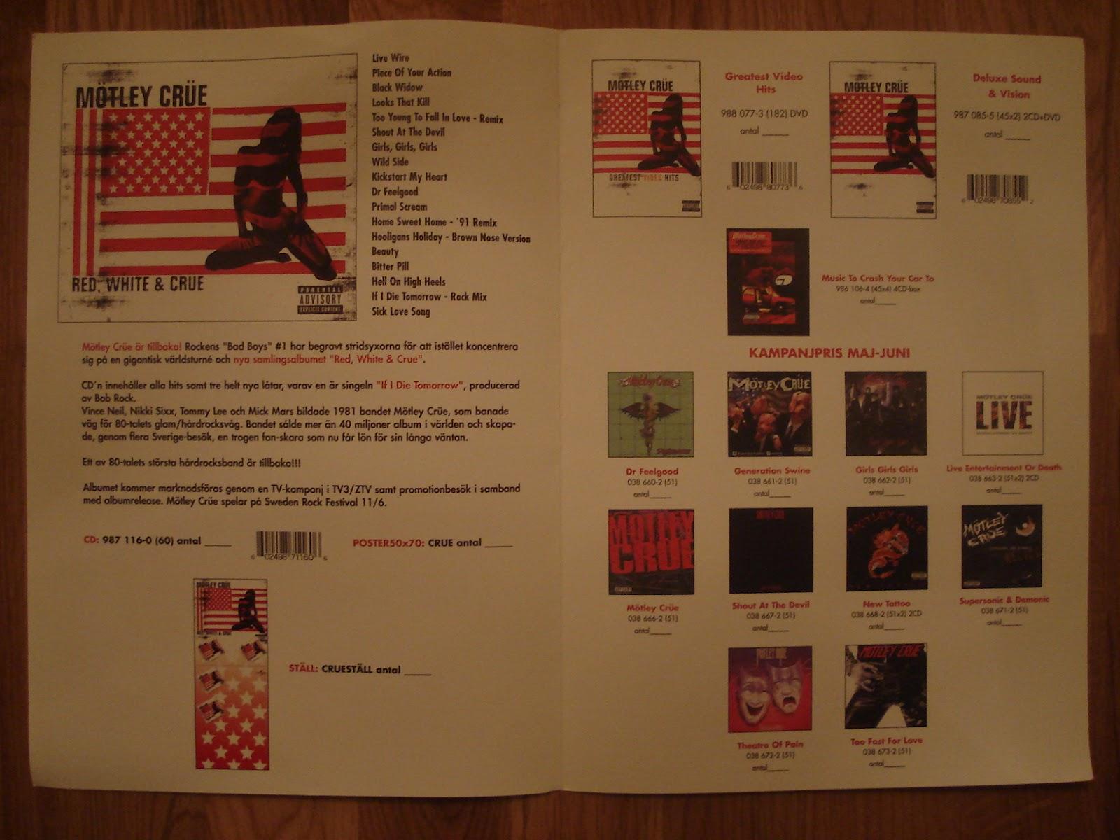 red white and crue cd