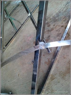 detail sambungan antena rapi dan tahan air