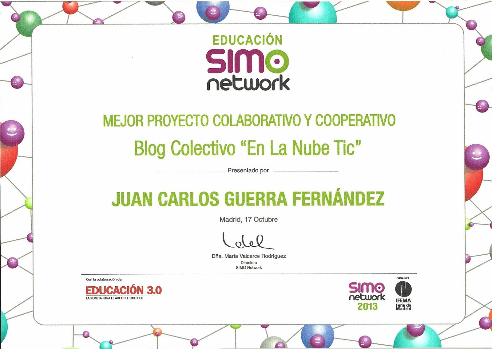 En la nube TIC premiado en SIMO Network Educación 2013