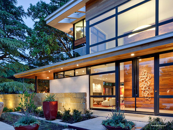 Modern sustainable home dallas texas most beautiful for Modern homes in texas