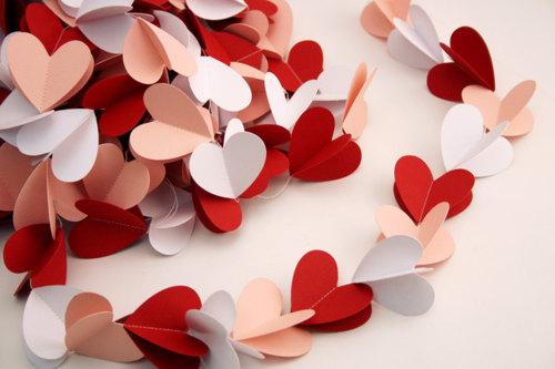 Reciclatex una cadeneta de corazones para san valent n for Deco saint valentin